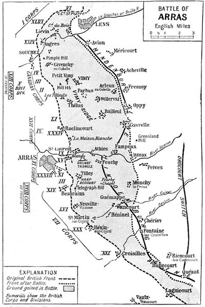 Map Of France Vimy.Vimy Ridge April 1917 Remembrance Trails Of The Great War In